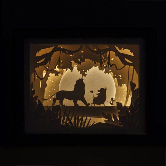 Handmade Papercut Lion King Greetings Card
