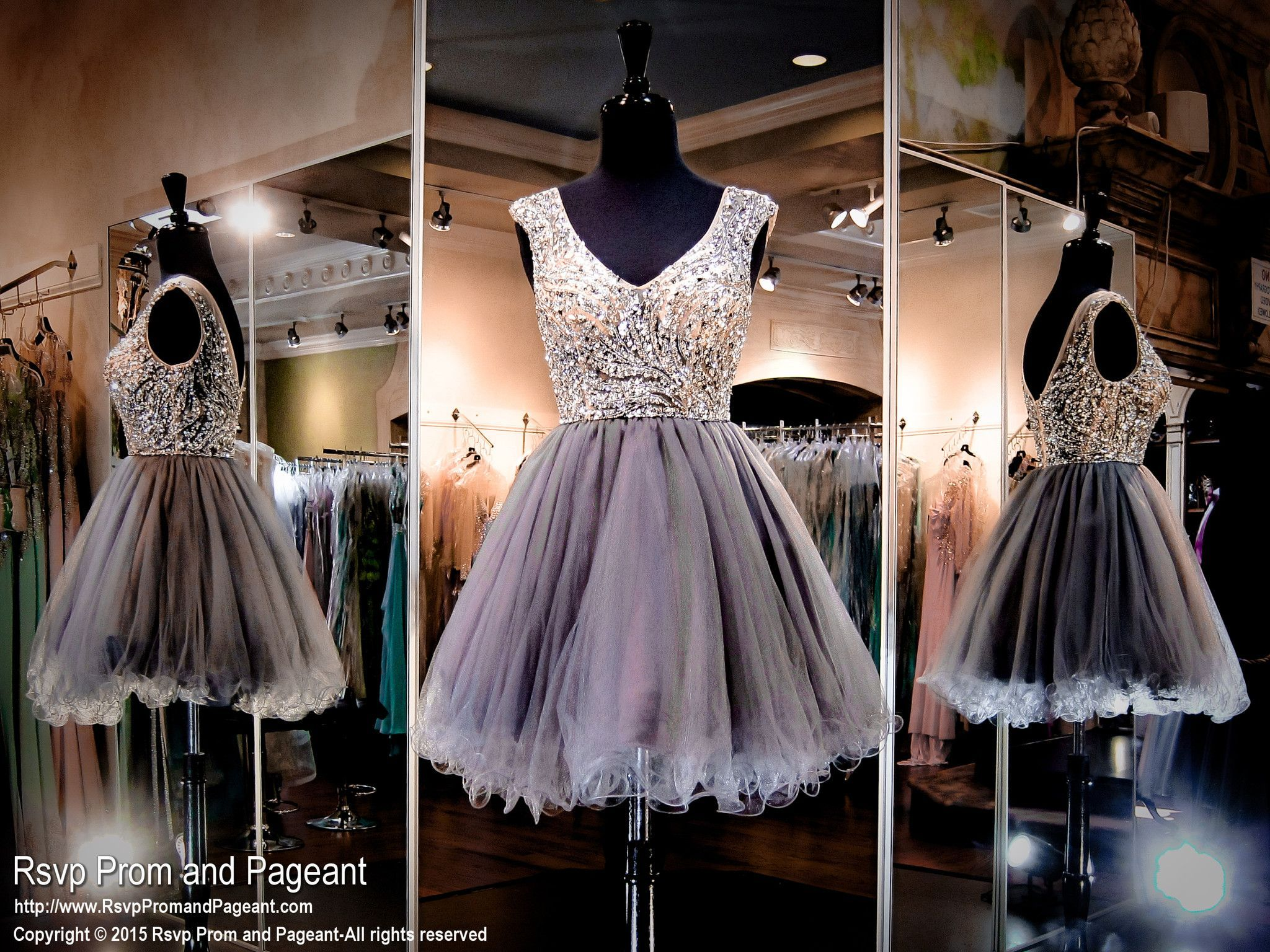 Omg! This stunner is out of this world with a bodice completely covered with sparkling crystals! Perfect for homecoming or sweet sixteen and it's at Rsvp Prom and Pageant, your Atlanta Prom Store!
