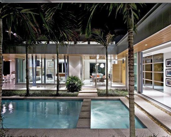 U Shaped House U Shaped Houses Pool House Plans Modern Pools
