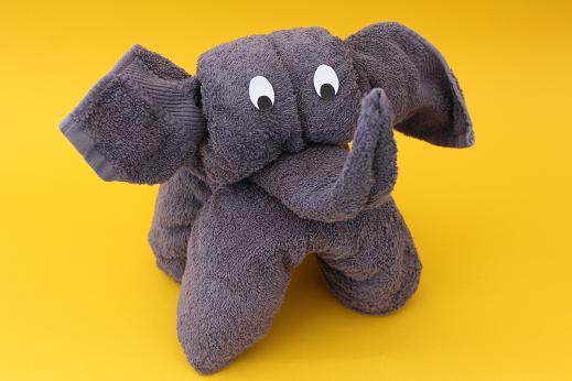 Super DIY: Handtuch-Origami-Elefant   Handtuch-Origami / Towel Origami NX27