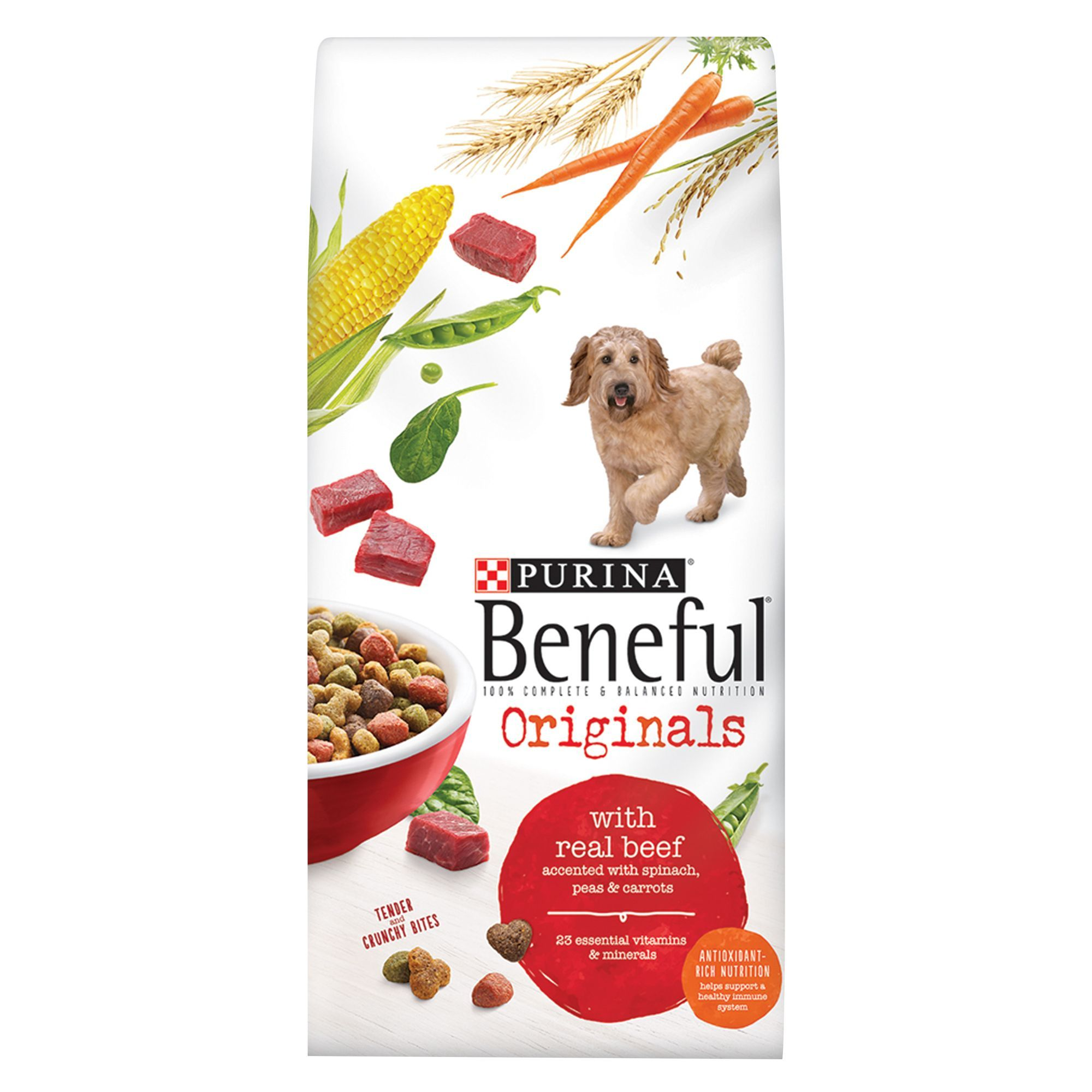 Purina Beneful Originals Adult Dog Food Beef Size 40 Lb Barley