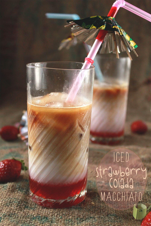 Iced strawberry colada macchiato 요리법 읜룜