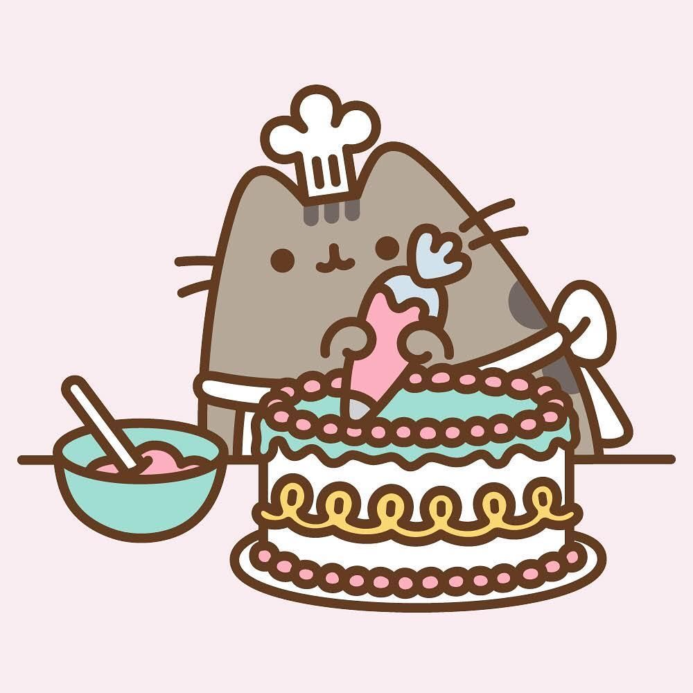 Pusheen Box On Instagram Happy Cakedecoratingday What S Your Favorite Cake Dessin Kawaii Animaux Petit Chat Trop Mignon Dessin Chat