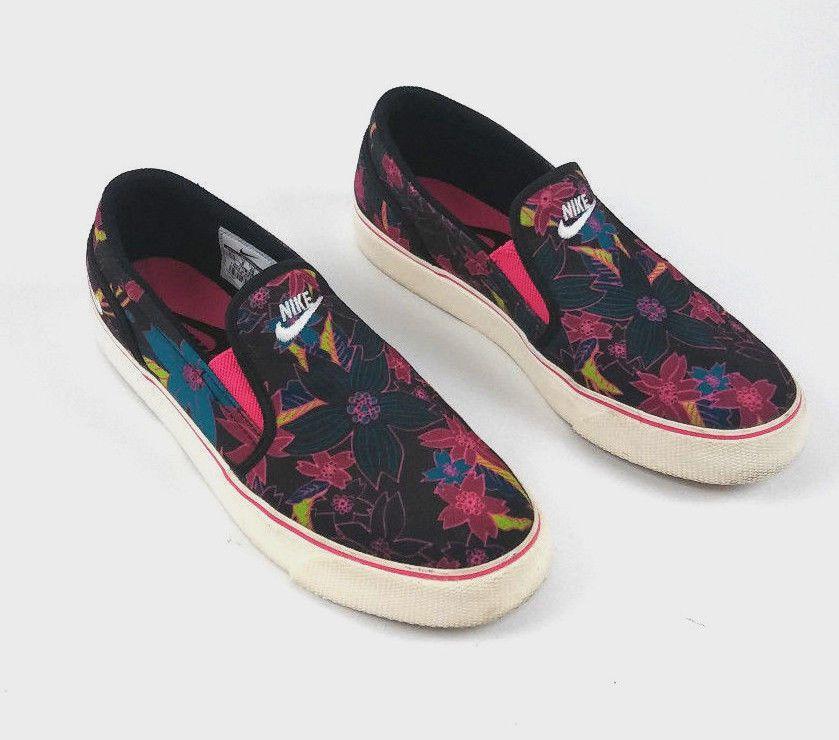 cc04bfd0cee7 NIKE TOKI WOMEN S SLIP ON ALOHA HAWAII FLORAL PRINT 724769-016 SIZE 8.5   Nike  AthleticSneaker