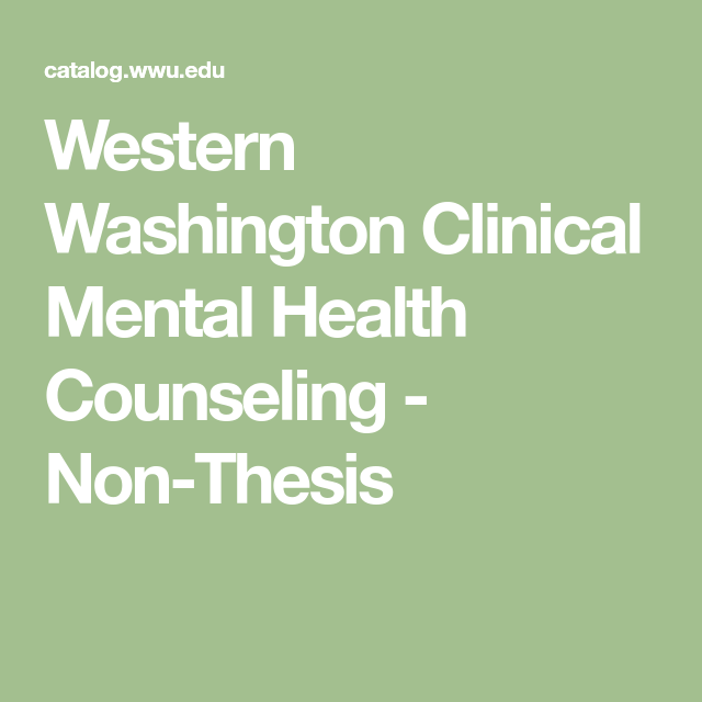 Western Washington Clinical Mental Health Counseling - Non