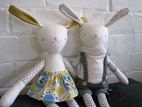 Bunny Rabbit Doll (Pattern) - perfect for an Easter basket goodie ...