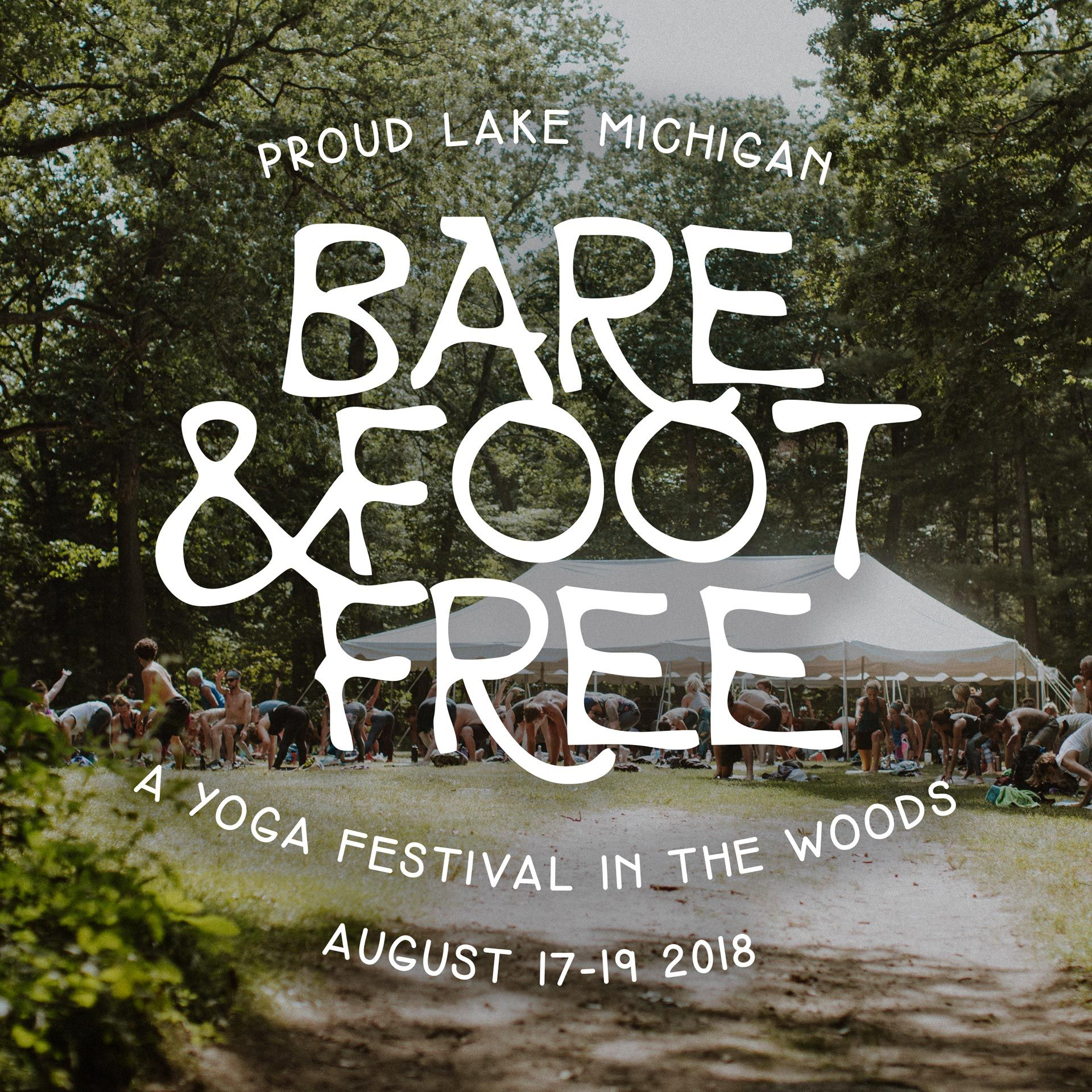 Barefoot And Free Yoga Festival In The Woods Save The Date  # Meuble Tv Yoga