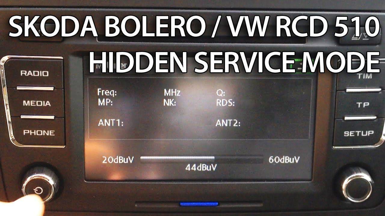 skoda bolera and vw rcd 510 hidden service menu