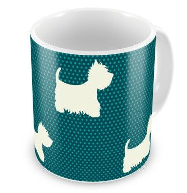Blue Polka Dot Westies Mug - The Westies Shop