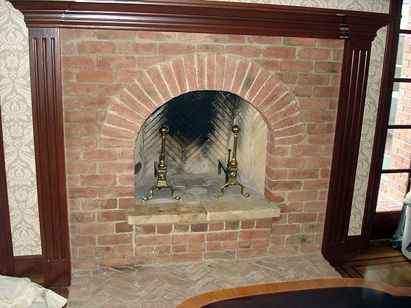 1937 year old brick fireplaces | Old Carolina Brick Fireplace ...