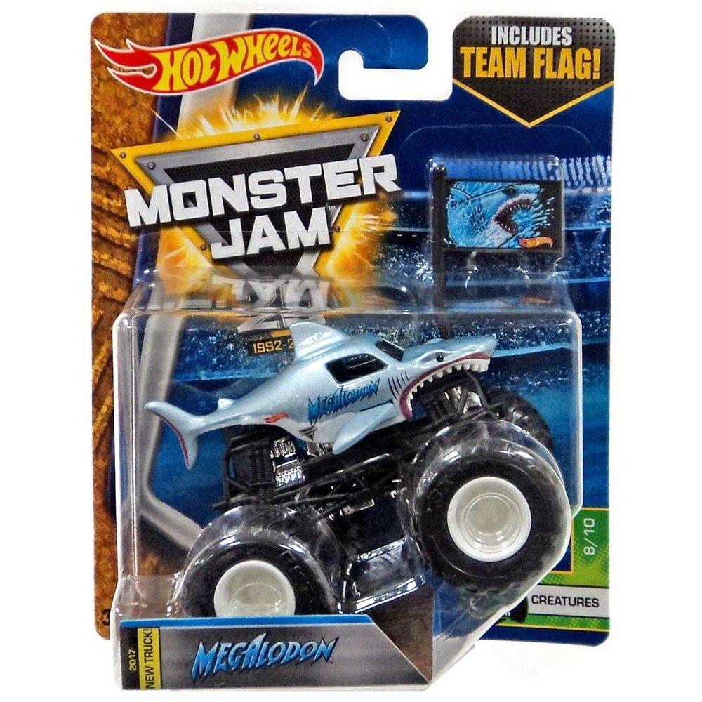 Hot Wheels Monster Jam 25 Megalodon Die Cast Car 8 10 Creatures Monster Jam Hot Wheels Monster Jam Hot Wheels
