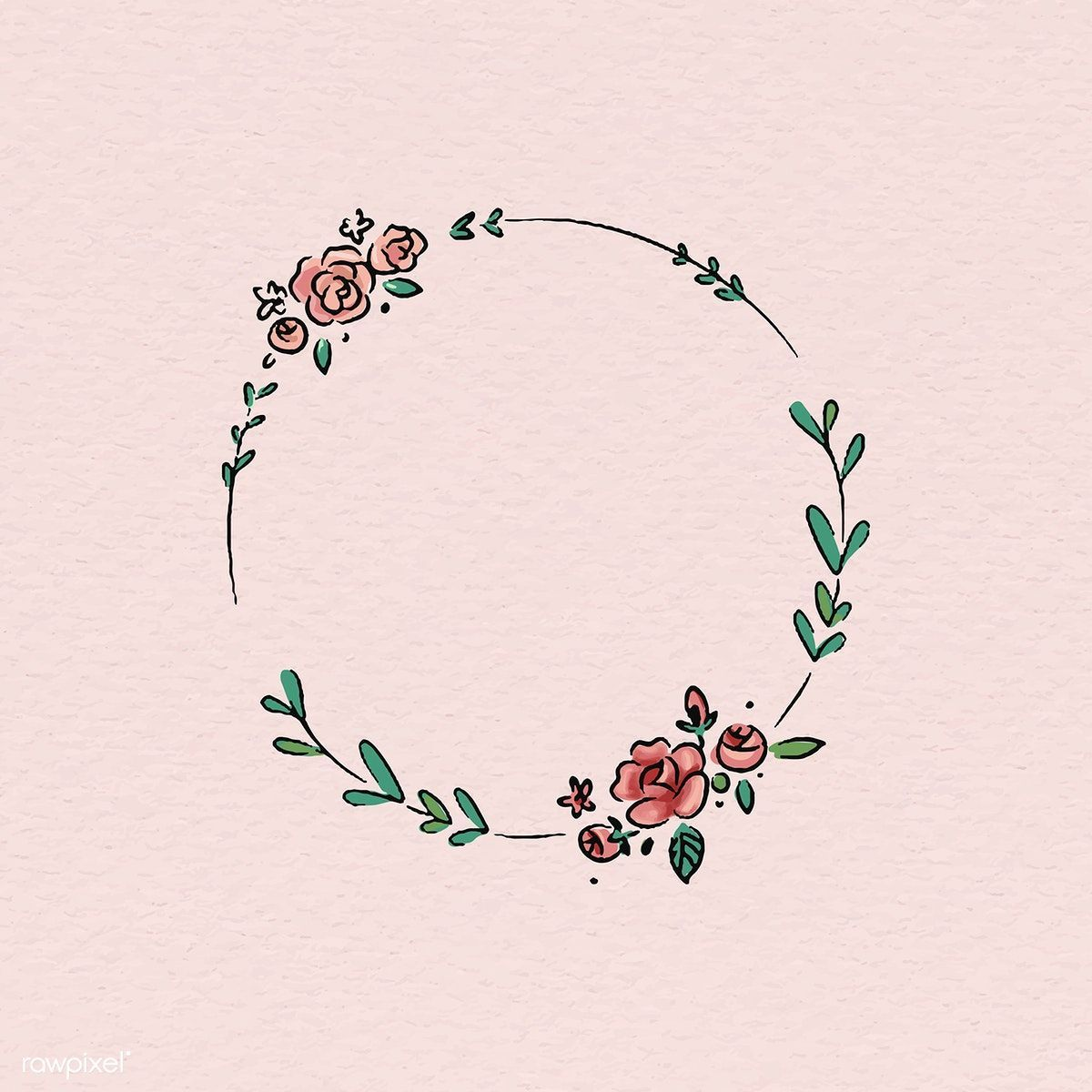 Photo of Download the premium vector doodle round floral wreath frame vector 843860 closed