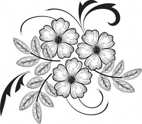 42 Simple Y Facil De Flores Dibujos Para Principiantes Easy Flower Drawings Flower Drawing Flower Art Drawing