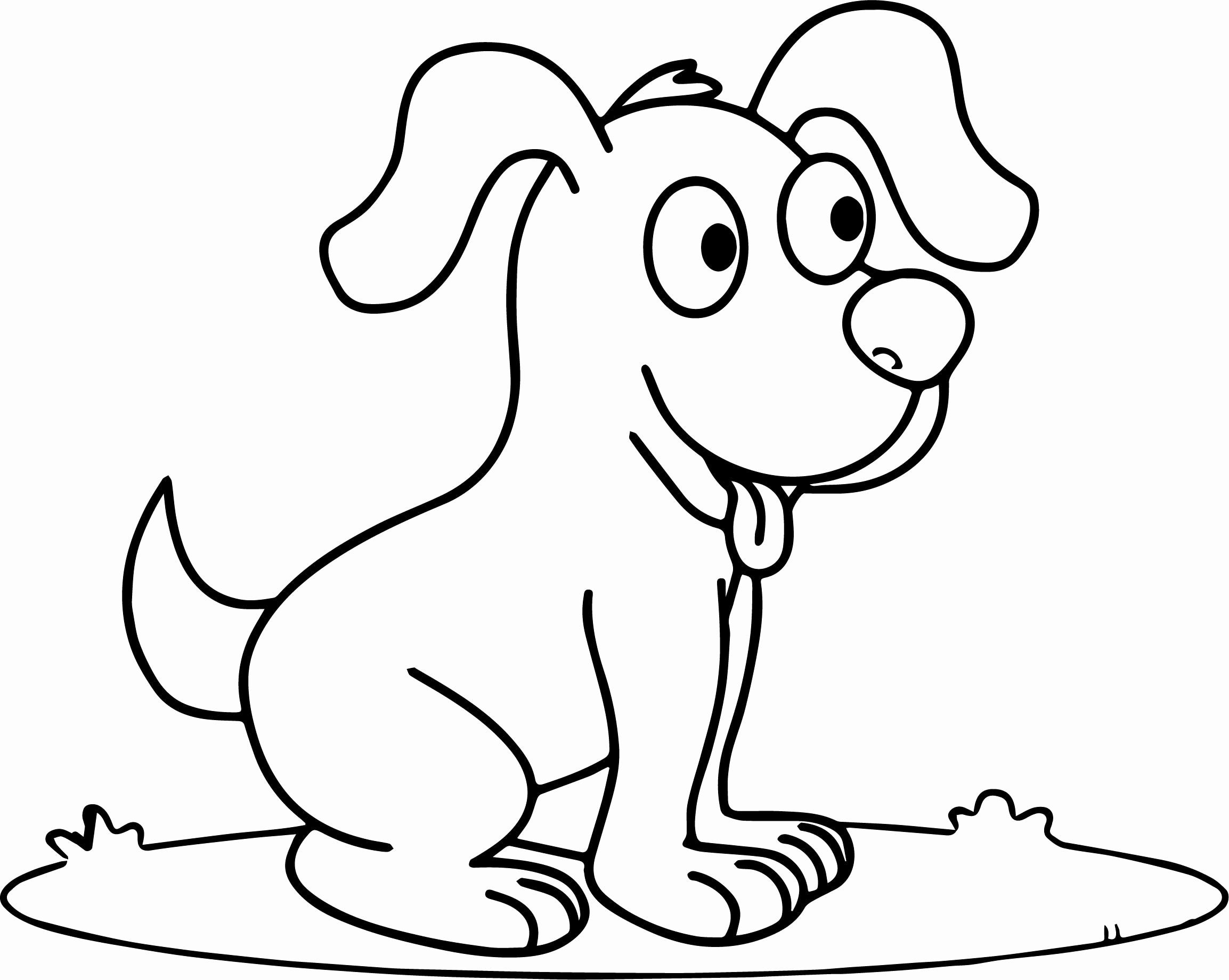 Cartoon Dog Coloring Pages Inspirational Cute Happy