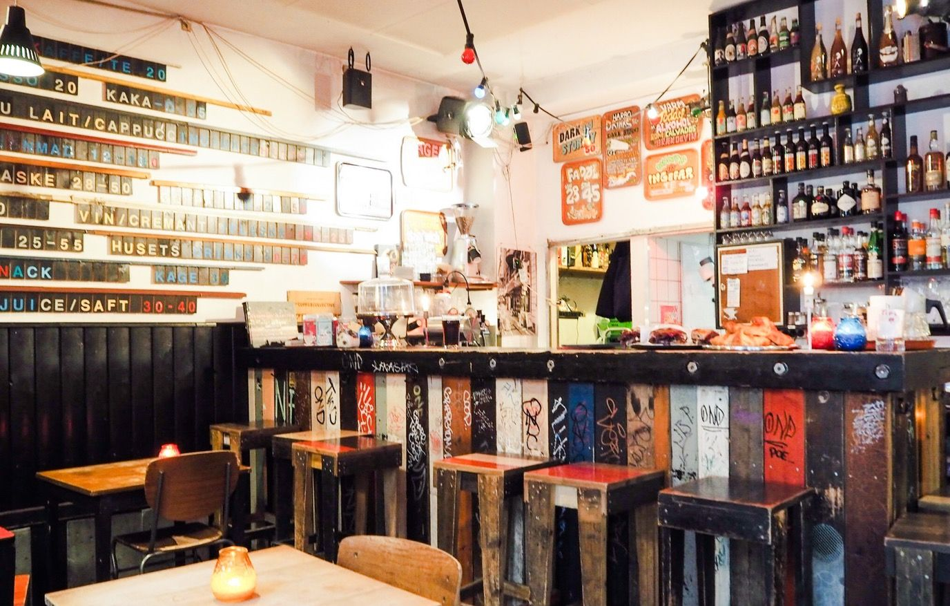 Step Into The Living Room Of Blgrdsgade Harbo Bar Welcomes You With Its No Fuss Diy Interior A Small Cosy Caf By Day And Thriving Night