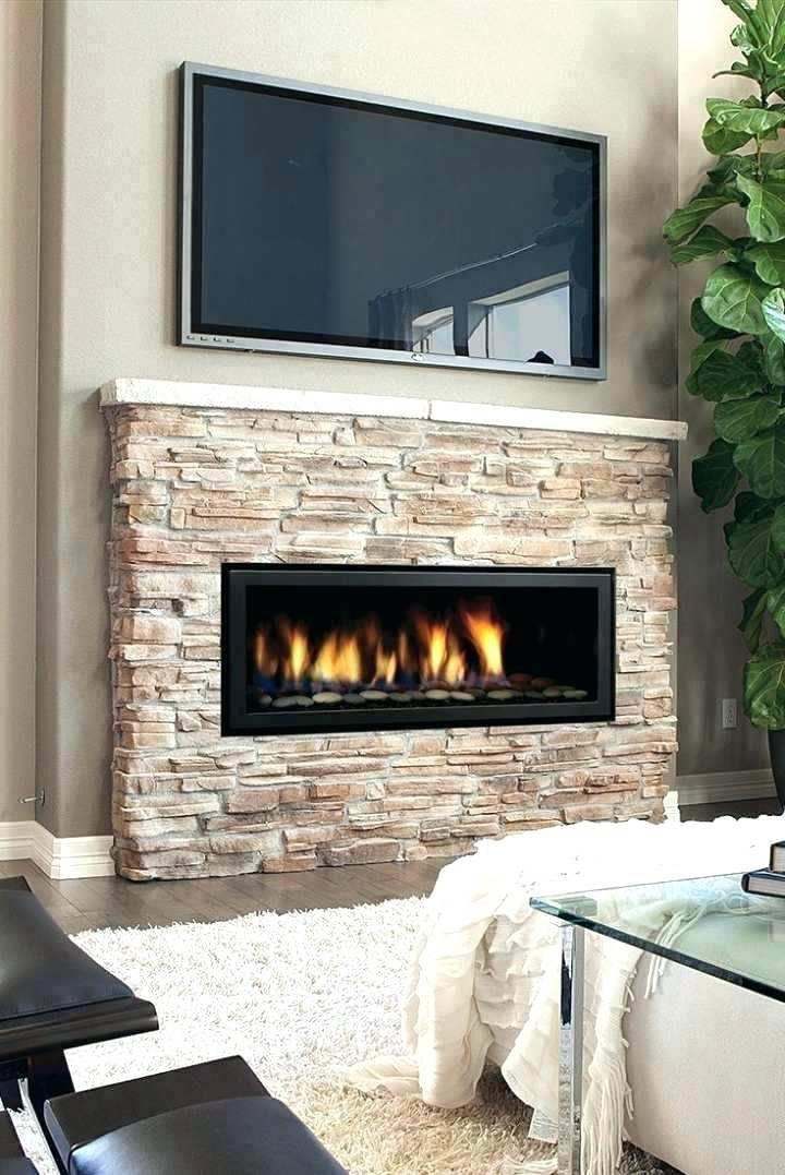 Hole In The Wall Gas Fireplace Contemporary Modern Style