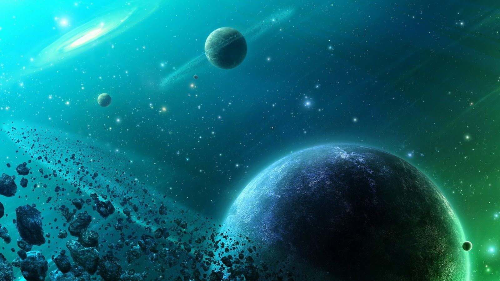 3D Space HD Desktop Wallpapers Stars &
