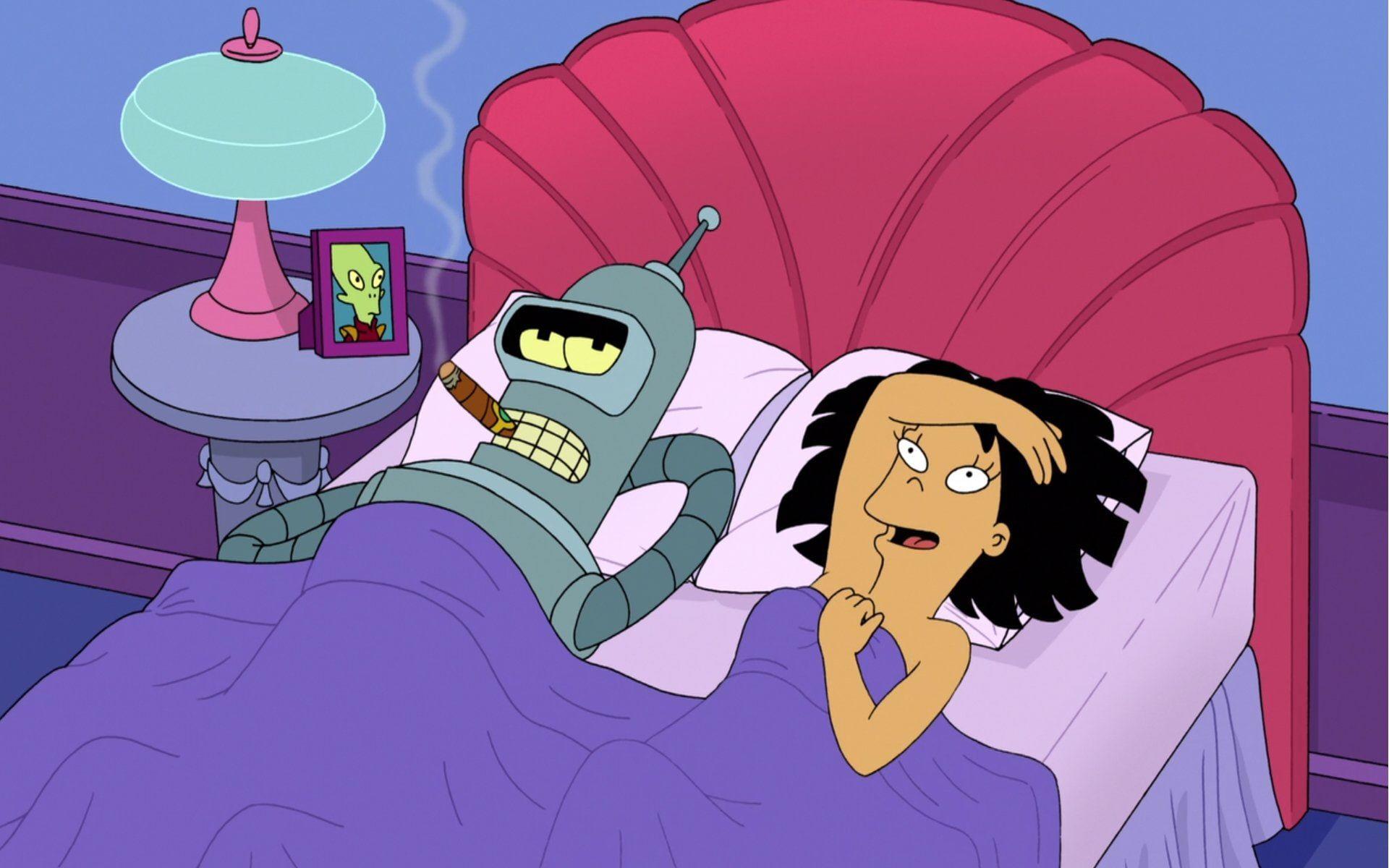 HD wallpaper: Futurama, Amy Wong, Bender (Futurama), adult, communication
