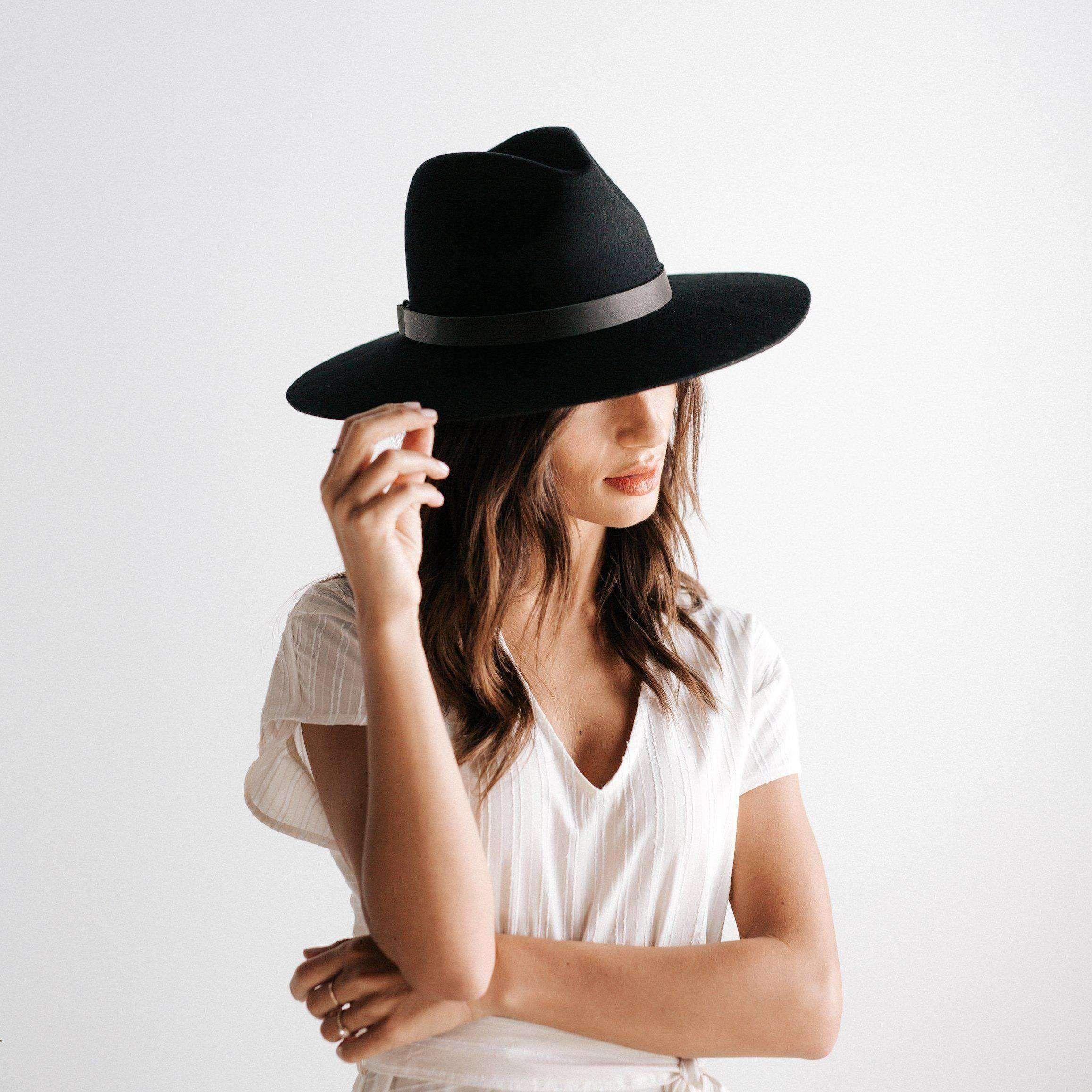Scottie Wide Brim Fedora Black Hat Fashion Wide Brim Fedora Hats For Women