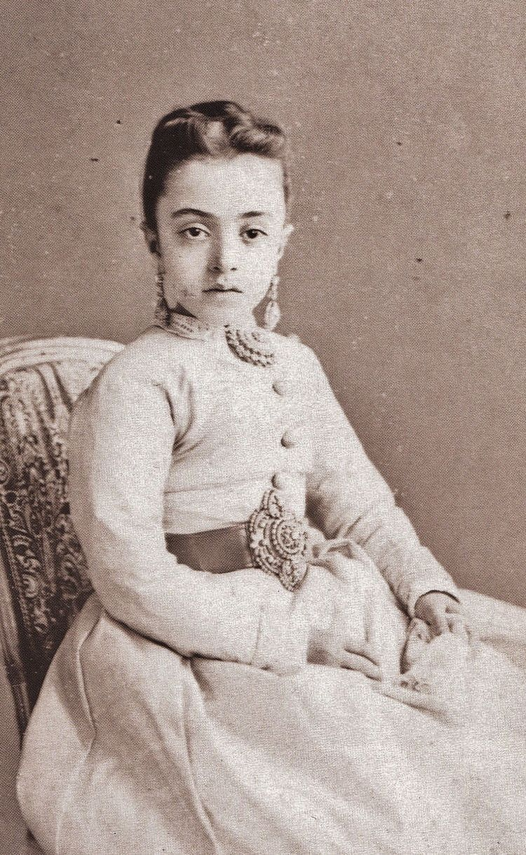 Portrait of Saliha Sultan (1862-1941).  Istanbul, 1873.  She was the fourth…