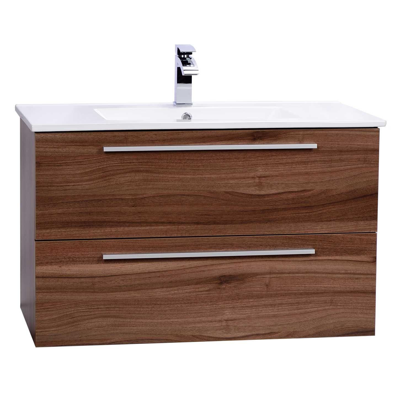 Nola 35 5 Wall Mount Modern Bathroom Vanity Walnut Tn T900c Wn