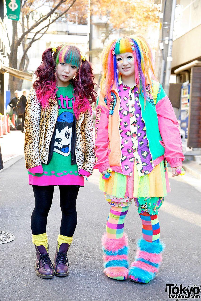 241035ebd4 Rainbow Fashion, Colorful Fashion, Harajuku Girls, Harajuku Style, Harajuku  Fashion,