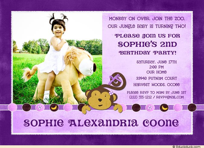 cool 2nd Birthday Party Invitation Wording – 2nd Birthday Invite Wording