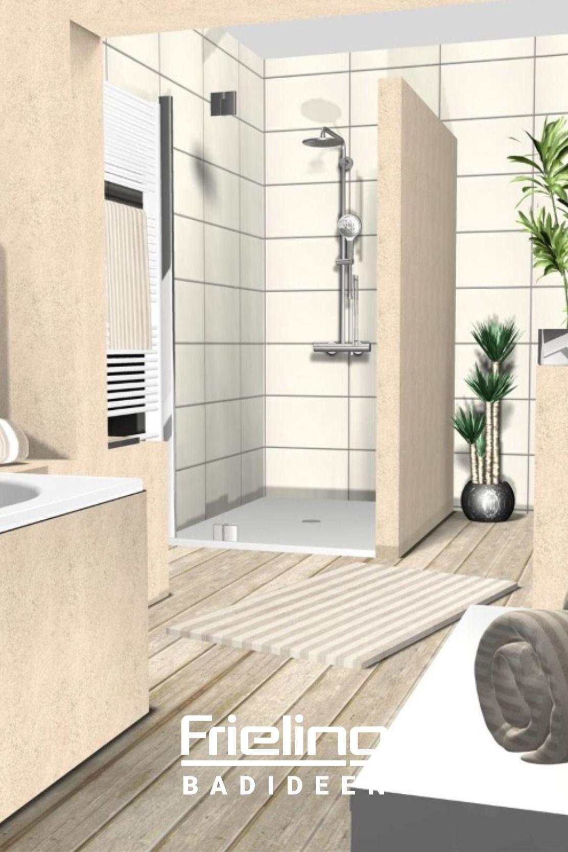 Das Bad Aus Zwei Zonen Ansicht Der Dusche In 2020 Badezimmer Grosse Badezimmer Badgestaltung