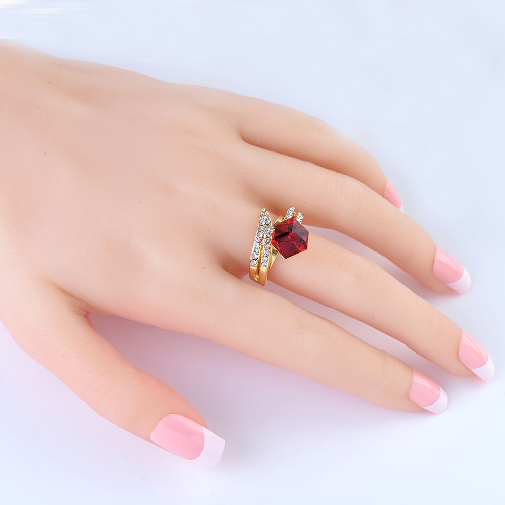 Click to Buy << Lucky Stone Punk Ring Silver Ring Jewelry for Women ...