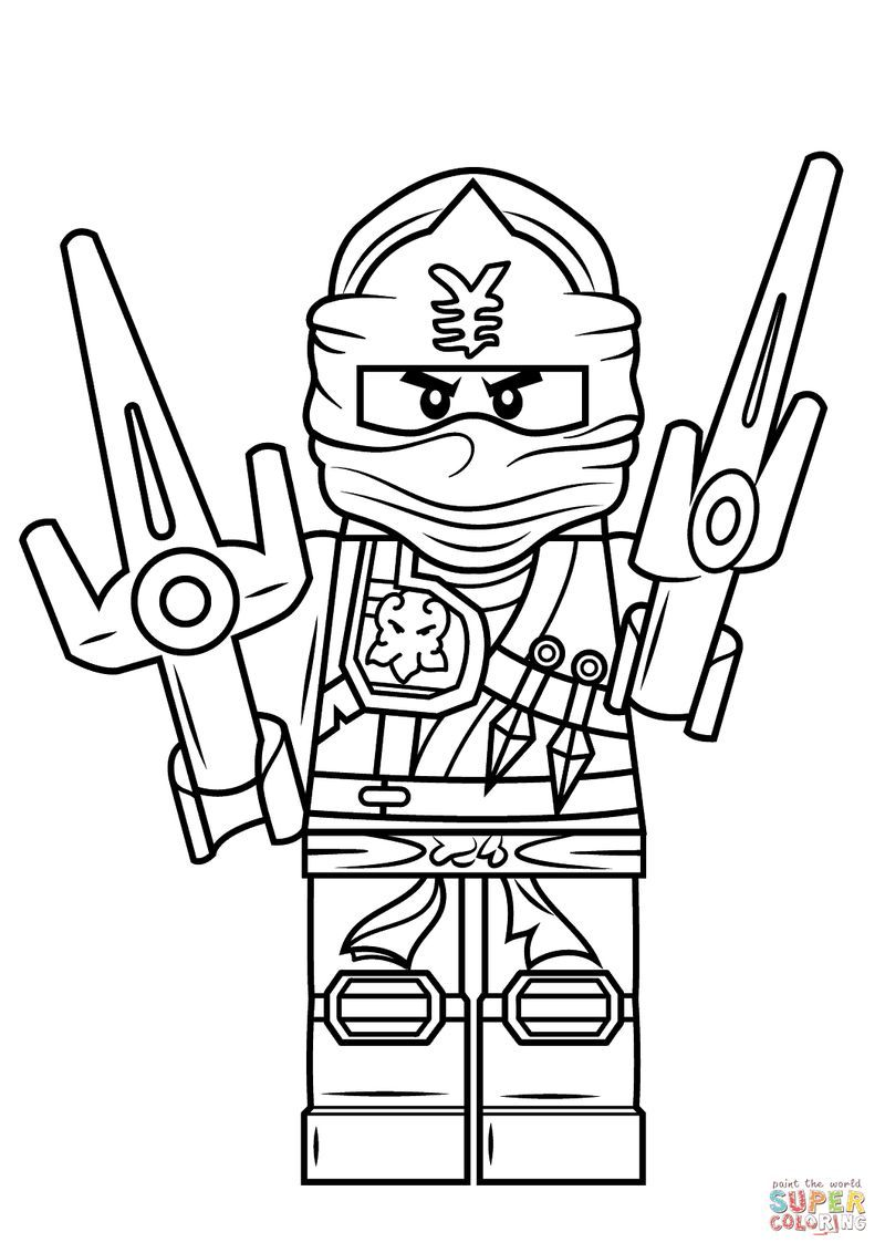 lego ninjago coloring pages to improve