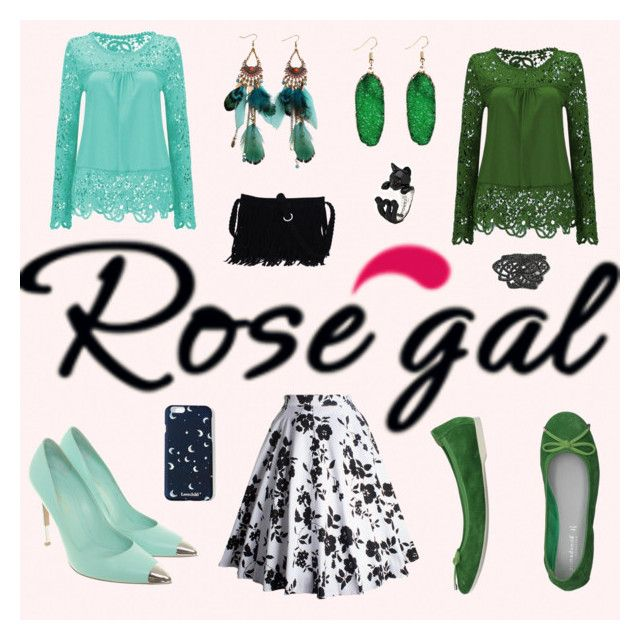 """""""Rosegal"""" by earthkeeper ❤ liked on Polyvore featuring Gianvito Rossi, PrimaDonna and Noir"""