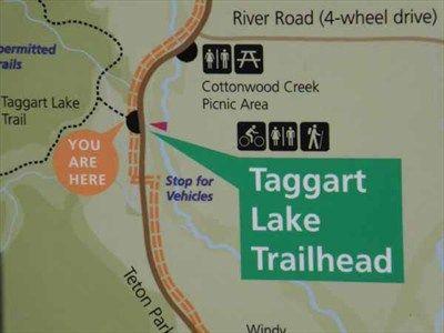 Grand Tetons Taggart Lake Trailhead - Wyoming - 'You Are Here' Maps on Waymarking.