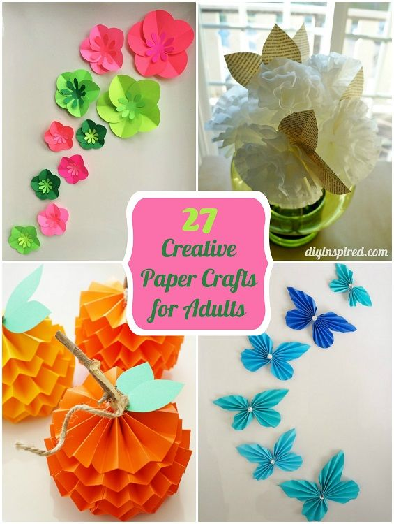27 Creative Paper Crafts For Adults Construction Paper Crafts Paper Crafts Easy Paper Crafts