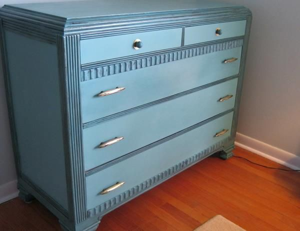 art deco painted furniture. art deco dresser painted in provence with an aubusson wash on the details furniture a
