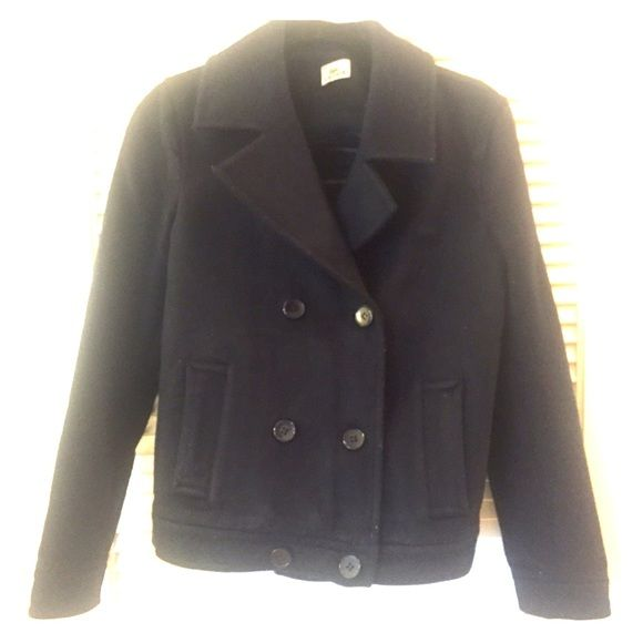 Dark blue Lacoste jacket Has been worn but the jacket is still in great conditions! It's a S but I'm an M and it fit perfectly. Lacoste Jackets & Coats Pea Coats