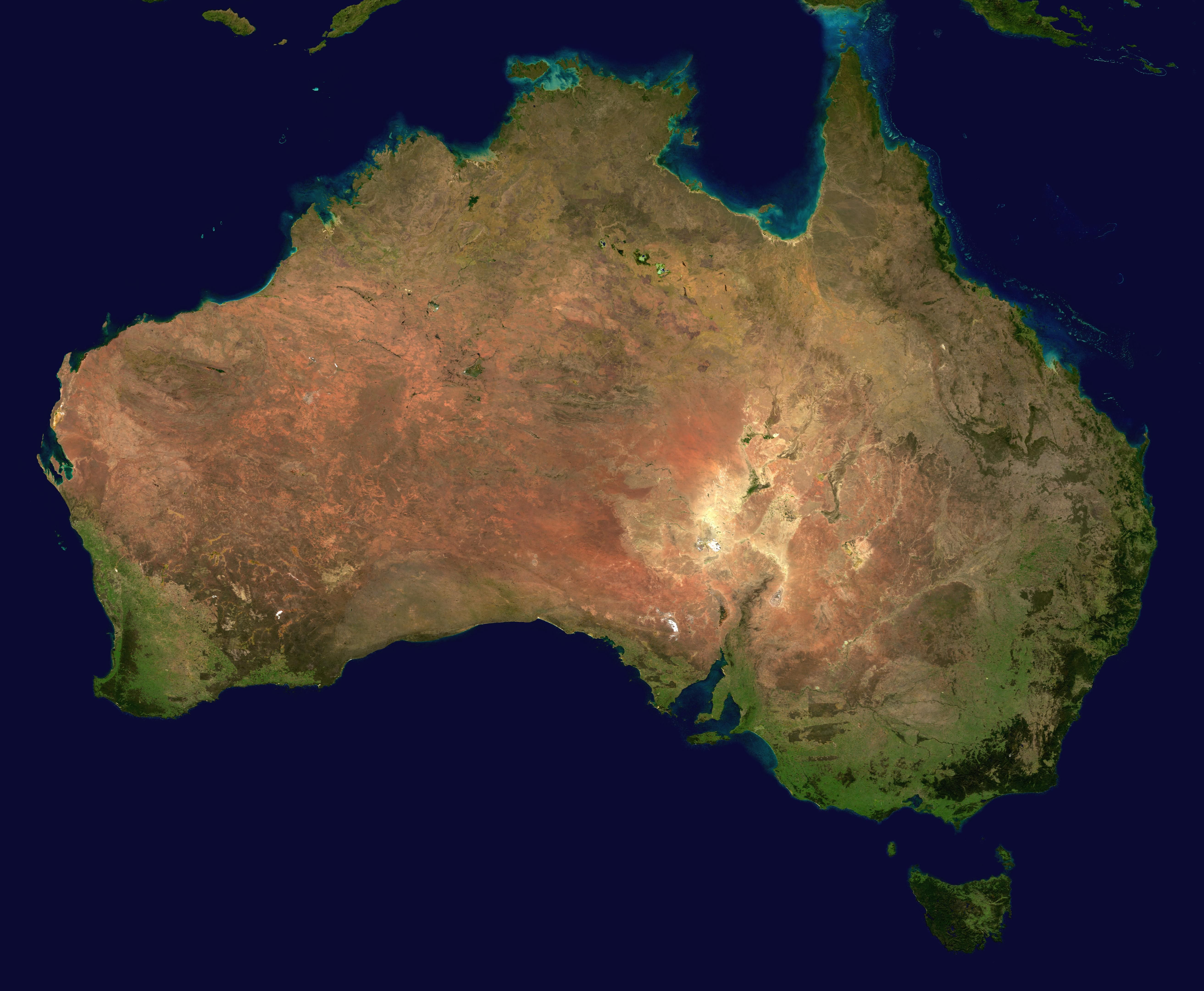 Australia Satellite Map Photography Is Art Pinterest - World satellite map view