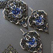 Handmade Jewelry.  Fair Masters - handmade pendant.  Earrings.  Samarkand 3 .. Handmade.