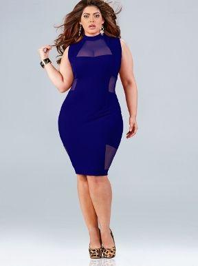 Plus Size Hypnotic Club Dress, Full Figured Sexy Club Dress ...