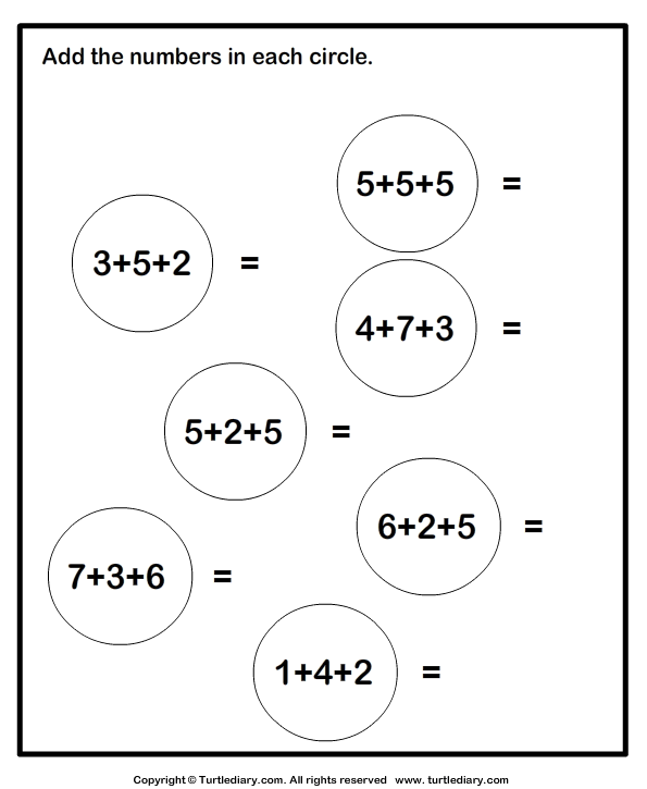All Worksheets Adding 3 Numbers Worksheets Printable – Three Number Addition Worksheets