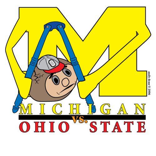 Michigan Vs Ohio State Logo Michigan Football Funny Michigan Funny Ohio State Logo