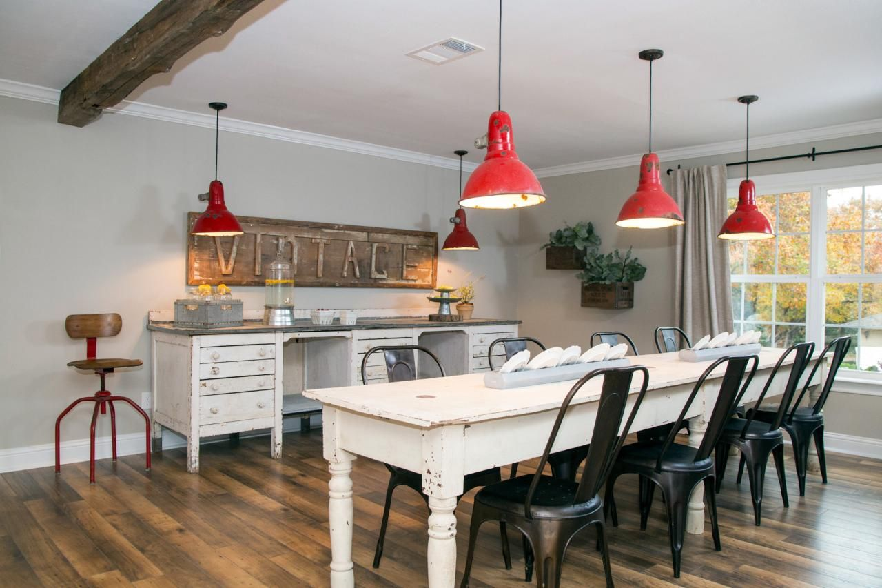 Dining Room Furnishings Include A 10 Foot Farm Table Large Antique Desk Repurposed As