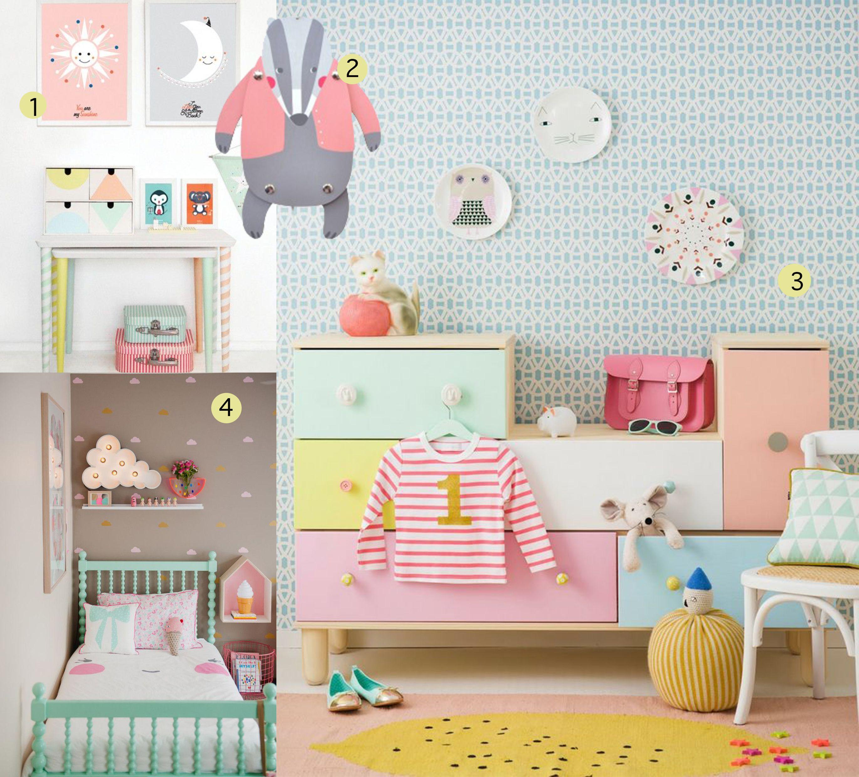 kinderkamer pastel - google zoeken | kinderkamer | pinterest, Deco ideeën