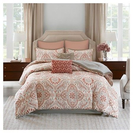 Coral & Khaki Tara Blush Tile Print Comforter Set - 8 Piece : Target ...