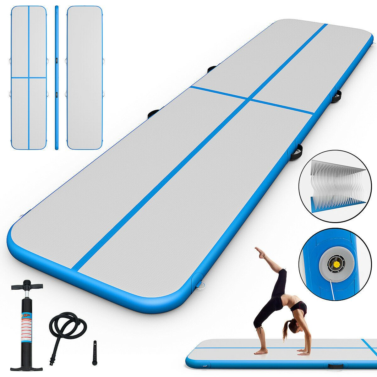 Sports & Outdoors Gymnastics mats, Gymnastics, Blue pumps