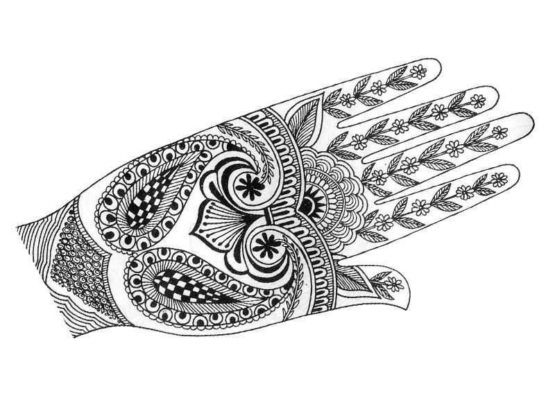 mehndi designs coloring book pages - photo#34