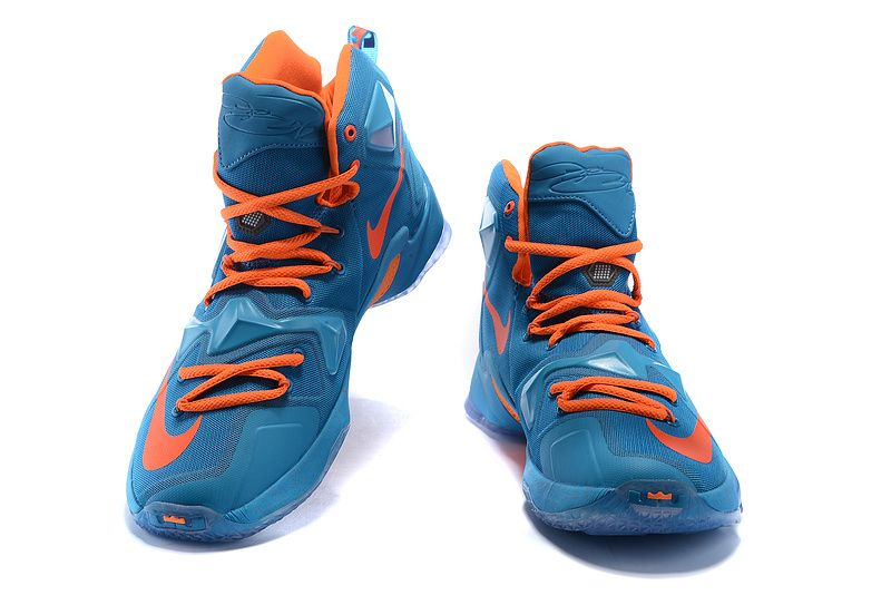 low priced e2b07 5ace9 2016-2017 Sale LeBron 13 XIII China Hyper Jade Total Orange Blue Lagoon New  Arrival 2016