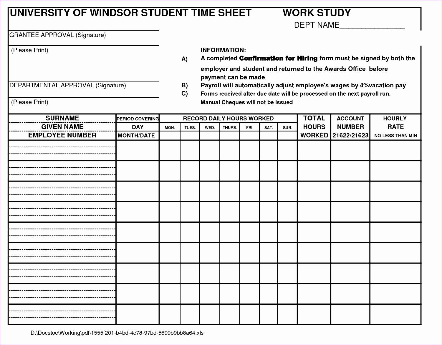 Employee Time Study Template Fresh 10 Time Motion Study