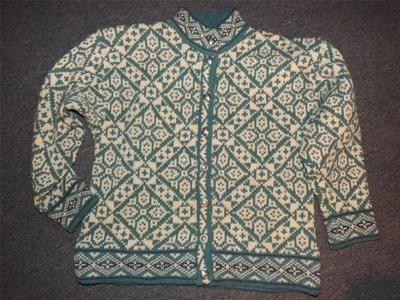 Ll Bean Norwegian Blue Pewter Button Cardigan Wool Sweater M   eBay