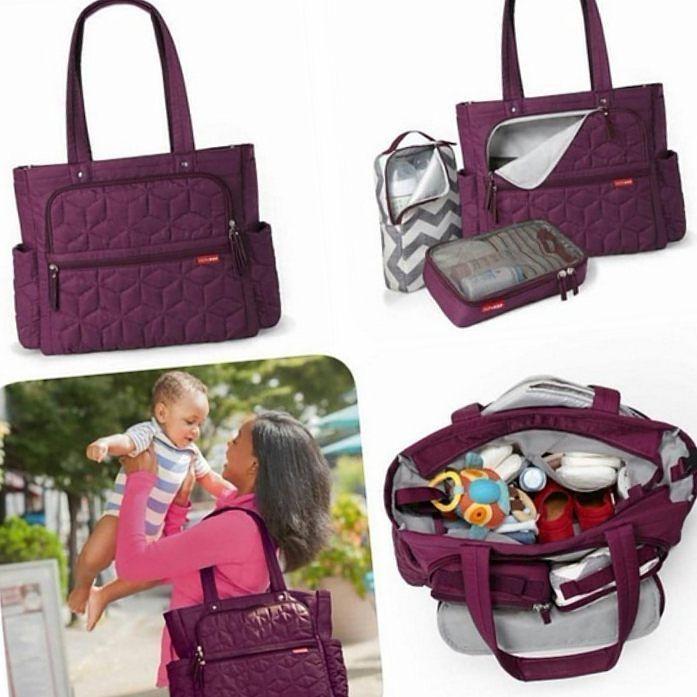 09e80403d8ce3 Muito bom dia com essa bolsa maternidade linda e moderna da Skip Hop por  R 45000