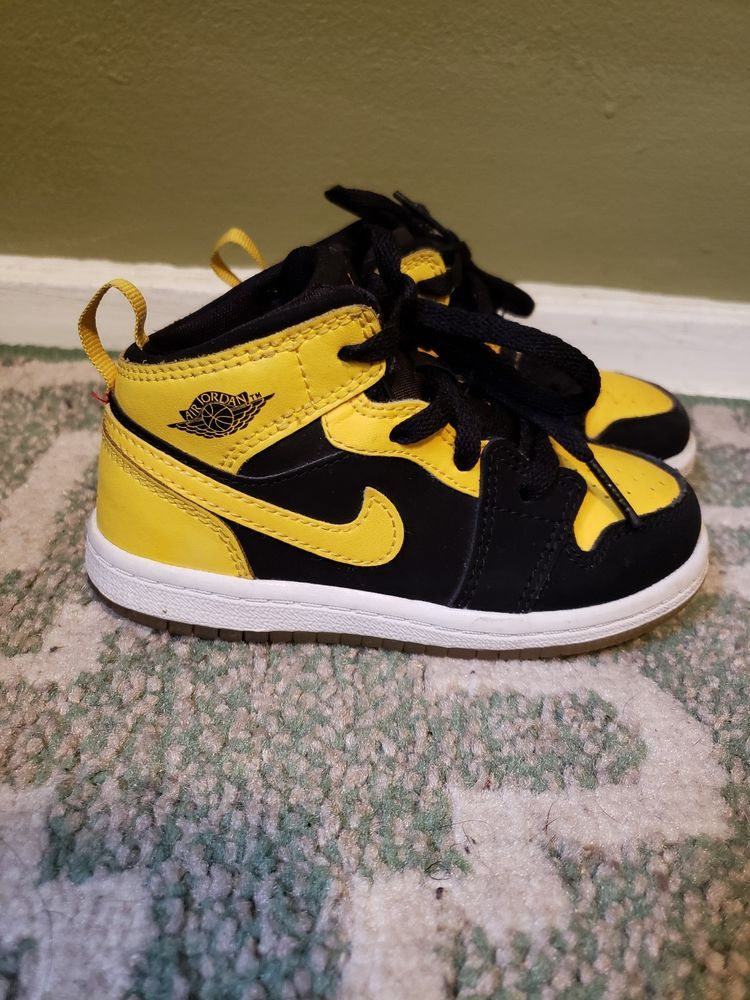 low priced 79743 3ed5f Jordan 1 Yellow And Black Toddler 8c  fashion  clothing  shoes  accessories   babytoddlerclothing  babyshoes (ebay link)